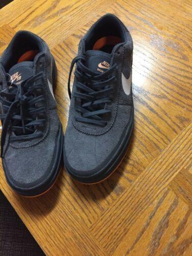 Mens Nike Brunn Hyperfeel 9 Medium Grey Athletic Running Shoes Lace Up SB