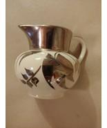 Sandland Ware Lustreware Luster Mini Creamer Silver White Hanley England - $19.75