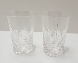 Pretty Crystal Glasses 8 oz Lot of 2  - $9.99