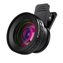 AUKEY Ora iPhone Camera Lens, 0.45x 140° Wide-Angle   10x Macro Clip-On ... - $32.67
