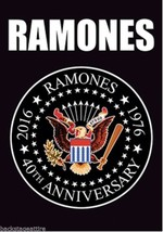 Ramones 1976-2016 40th Anniversary Hey Ho Cloth Poster Flag Fabric Tapes... - $12.81