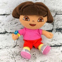 Nickelodeon Nick Jr Dora The Explorer Plush Doll Classic Outfit Stuffed Toy - $7.91