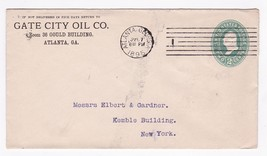 GATE CITY OIL CO. ATLANTA GA JULY 17 1895  - $4.98