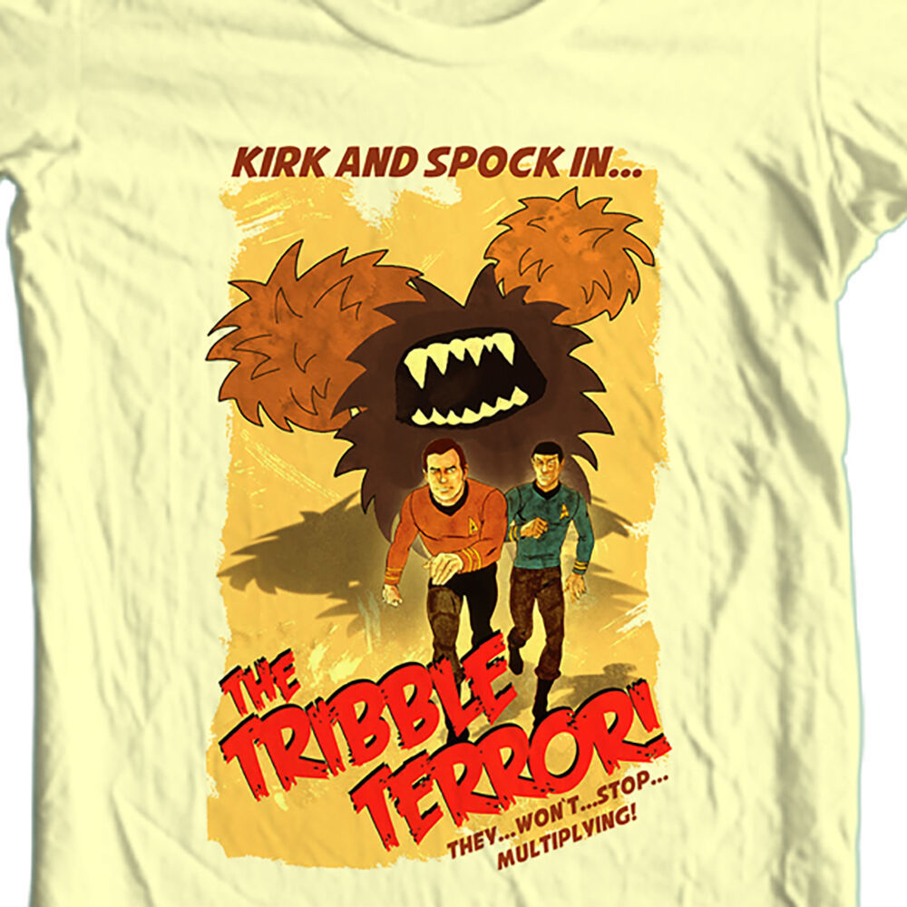 Star Trek Kirk  Spock Animated TV Series T-shirt original cotton tee CBS1175