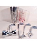 GOLFER'S GOLF CLUB BAR SET STAINLESS STEEL GLASS TUMBLER MIXER OPENER IR... - $18.95