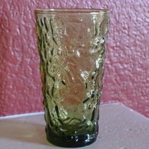 Anchor Hocking Lido Drinking Glass Tumbler Avocado Green Mid Century  19... - $5.07