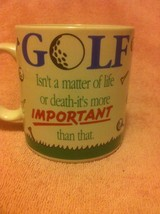 APPLAUSE  GOLF COFFEE MUG / CUP--MATTER OF LIFE OR DEATH--  --FREE SHIP-... - $298,71 MXN