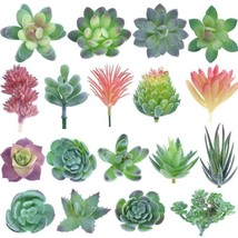 KUUQA 18 Pack Artificial Succulent Plants Unpotted Faux Flower 18 PCS - $26.98