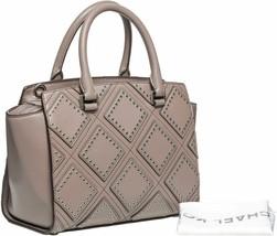 Michael Kors Cinder Leather Diamond Grommet Selma Medium Top Satchel / T... - $257.39