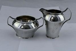 R. Wallace & Sons Sterling Silver 5.4 oz. Creamer and Sugar Set 2395 Mono  - $148.49