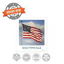 USPS FOREVER First Class Postage Stamps, U.S. Flag, Coil of 100 Stamps - $122.51