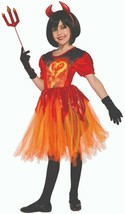 Forum Novelties Demonios Lil Llama Fuego Vestido Infantil Disfraz Halloween - $29.38