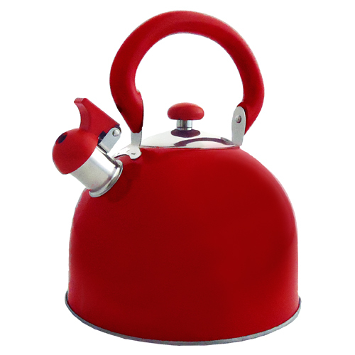 Primary image for Fancy Cook Red Stainless Steel Domed Lid Whistling Tea Kettle 3-Qt.