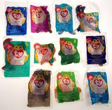 McDonalds Toys Lot of 11 TY Beanie Baby Peanut Doby Pinchers Mel Bones W... - $17.99