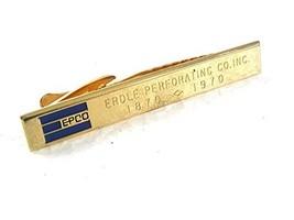 1870-1970 Epco Erdle Perforación Co. Inc. Corbata Cierre por Hickok EEUU... - $116.80