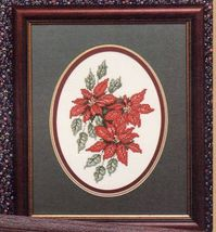 Cross Stitch Christmas Village Angel Church Poinsettia Little Match Girl... - $12.99
