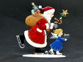 """ARTIST WILHELM SCHWEIZER GERMAN ZINNFIGUREN Skating Santa (3.5""""x 3.5"""") - $110.00"""