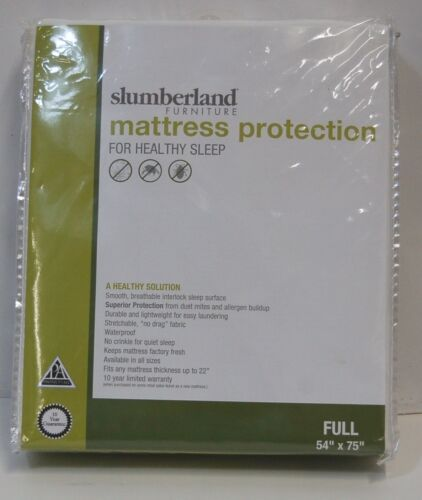 Slumberland Full Mattress Protection White Smooth Breathable