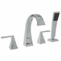 "Mirabelle MIRVL4RTCP Vilamonte"" Deck Mount Tub Faucet With Handshower  - $193.05"
