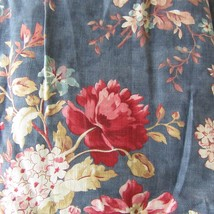 "Ralph Lauren CHADWICK Blue Floral Twin Bed Skirt Ruffle Gather 15"" Drop NEW - $44.54"