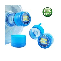 3 & 5 Gallon Water Jug Cap Replacement Non Spill Bottle Caps with Cap-Op... - $16.38