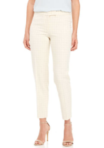NWT ANNE KLEIN BEIGE IVORY CREAM PLAID CAREER ANKLE  PANTS SIZE 16 $89 - $29.99
