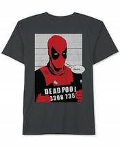 XL Men's Deadpool Shirt Printed Shield Graphic Tee Marvel T-Shirt NEW