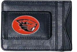 oregon state beavers oval logo ncaa college emblem leather cash & cardholder - $27.07
