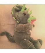 "Build a Bear Dinosaur Green Soft Plush Triceratops Stuffed Animal BABW 17"" - $14.50"