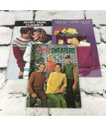 Vintage Coats And Clark Pattern Pamphlet Books Lot Of 3 Sweaters Carry-Alls - $11.88