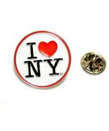 I Love NY Round Logo Enamel Lapel Pin Licensed by the State of NY - $9.99