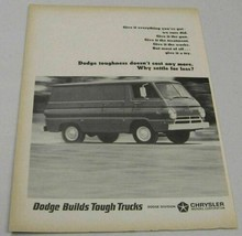 1964 Print Ad Dodge Full Size Van for 1965 Builds Tough Trucks - $13.85