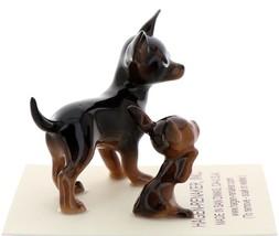 Hagen-Renaker Miniature Ceramic Dog Figurine Chihuahua Mama and Tiny Pup Black image 4