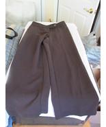 Evan - Picone Petite Brown Polyester Pants  Size 4 Petite - $9.99