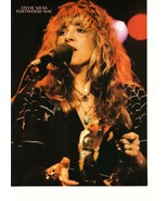 Stevie Nicks Fleetwood Mac teen magazine pinup clipping close up on stag... - $3.50