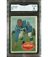 1960 Topps #5 Jim Parker Hall of Fame - Baltimore Colts (GMA Graded EX-N... - $19.79