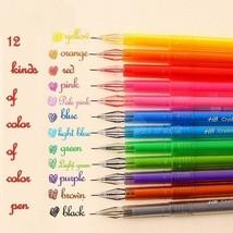 12Pcs Novelty Colorful Gel Pen Set School Supplies Candy Colors Gel Pens... - $2.75