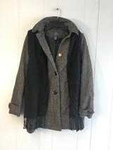 ST.JOHN'S BAY Men's Woolen Jacket with Hoodie & Scarf Small Petite Black... - $69.99