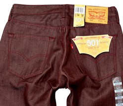 Levi's 501 Men's Shrink To Fit Straight Leg Jeans Button Fly Red 501-1577 image 1