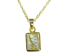 cute Rutile Quartz CZ Gold Plated Multi Pendant Natural Designer US gift - $9.89
