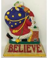 Vintage 1999 Mary Engelbreit Enesco Believe Santa Claus Christmas Door Stop - $39.59
