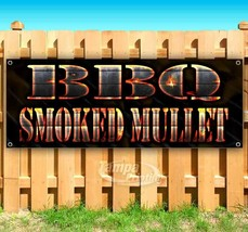 BBQ SMOKED MULLET Advertising Vinyl Banner Flag Sign Many Sizes USA - $11.39+