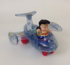 Little People Wonder Woman & Invisible Jet With Talking & Sound Fisher P... - $35.59