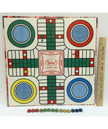 1945 Whitmans Pachisi Board Game of India w/ Wooden Pieces Childrens Ant... - $10.88