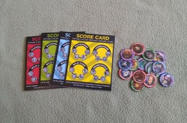 JUSTICE LEAGUE ROAD TRIP Game replacement pieces SCORE CARDS VILLAIN TOKENS - $9.49