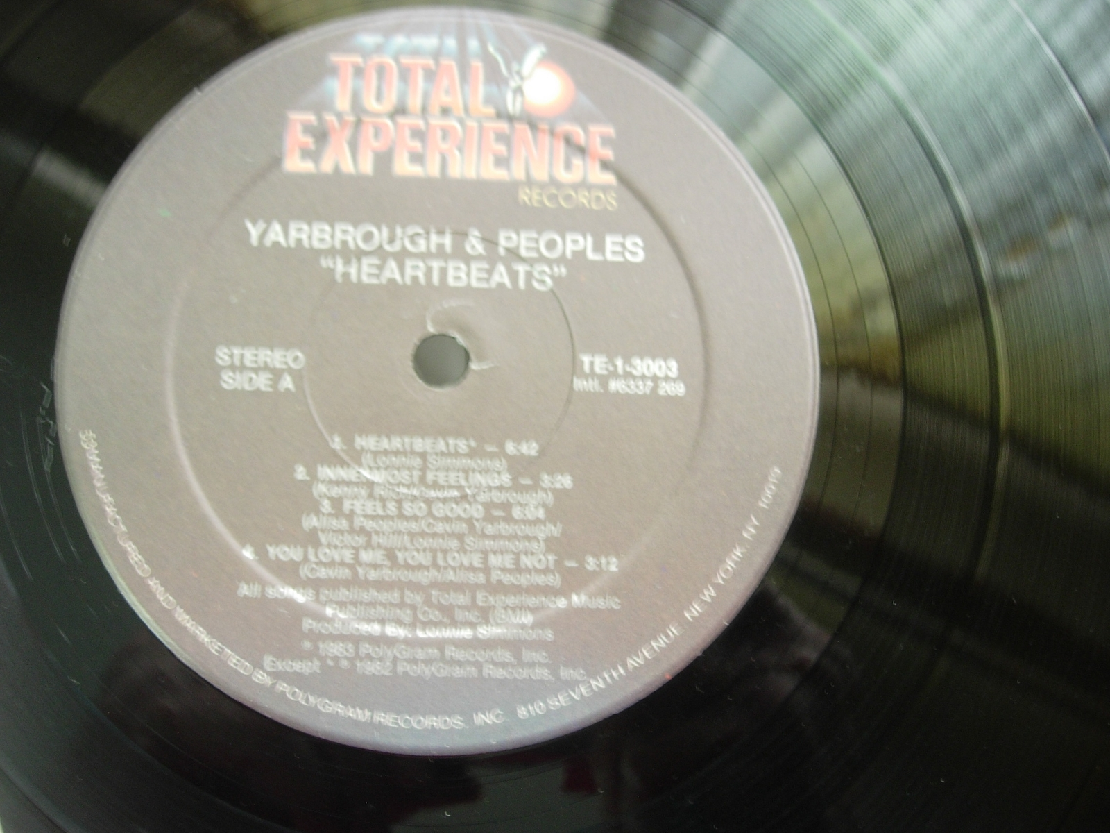 Yarbrough & Peoples - Heartbeats - Total Experience TE-1-3003