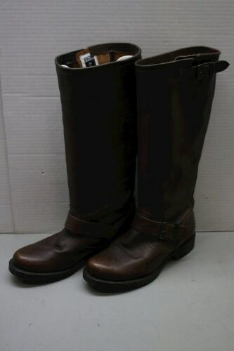 Women's Dark Brown Leather Frye Tall Knee High Western Style Boots