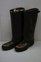 Women's Dark Brown Leather Frye Tall Knee High Western Style Boots image 1