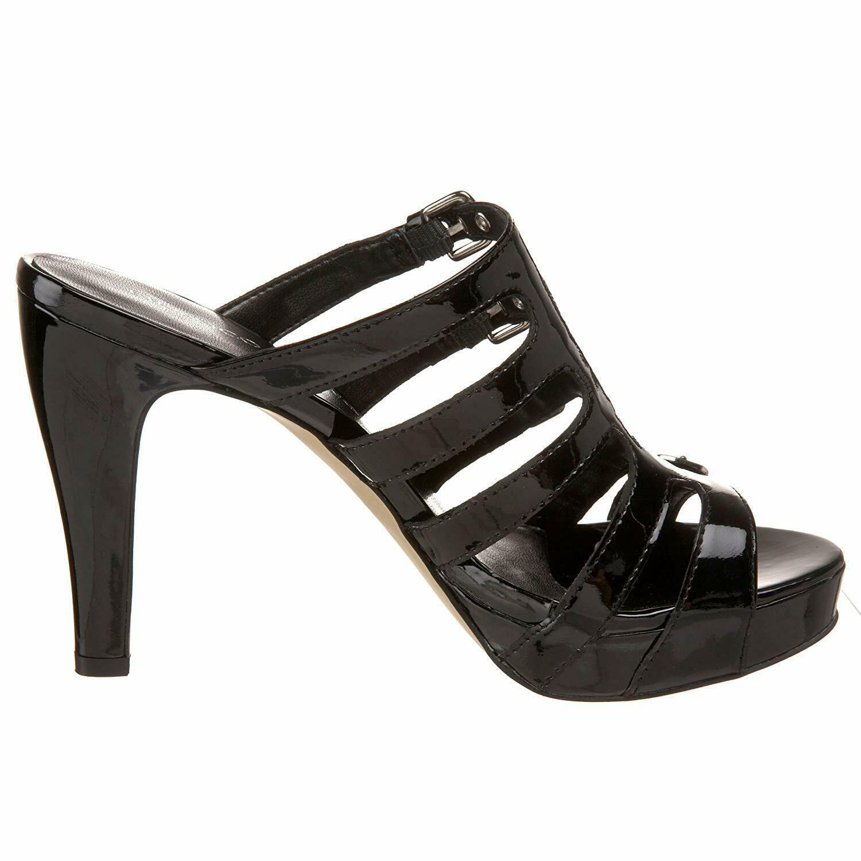 Franco Sarto Asset Patent Leather Strappy Slide Buckle Heels Sandals Shoes 6.5 image 2