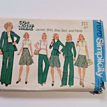 Simplicity Sewing Pattern 7070 Size 14 Jacket Skirt Pant Shirt vintage 1975 - $6.93